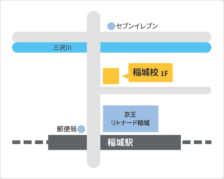 森塾 稲城校の地図