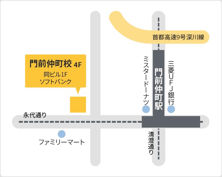 森塾 門前仲町校の地図
