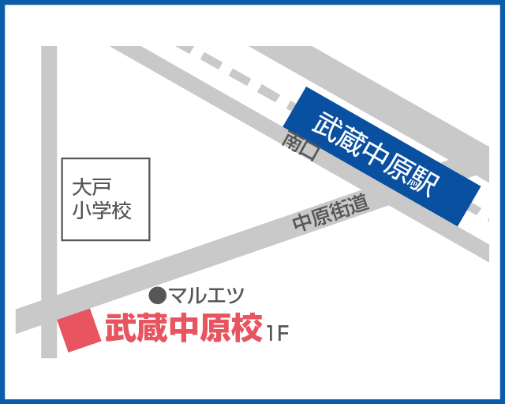 森塾 武蔵中原校の地図