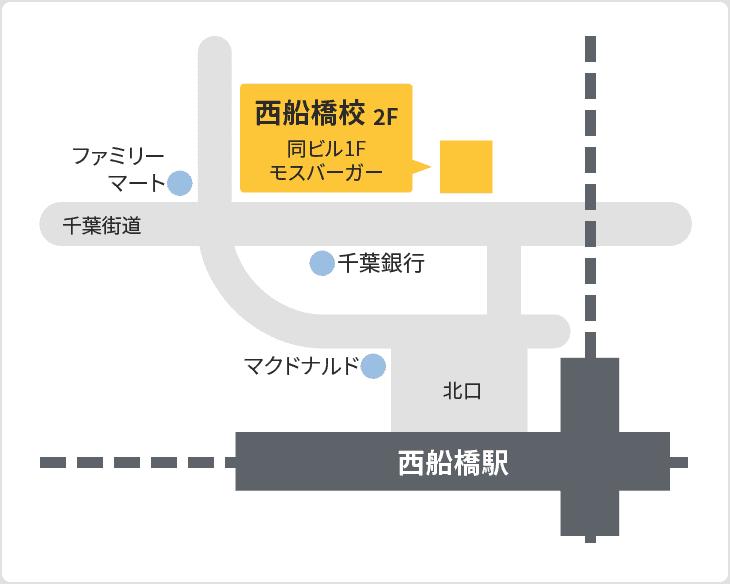 森塾 西船橋校の地図