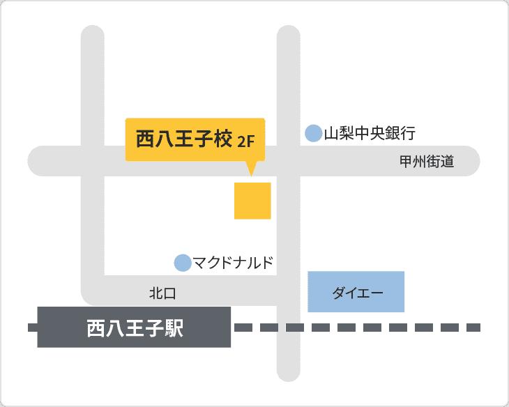 森塾 西八王子校の地図