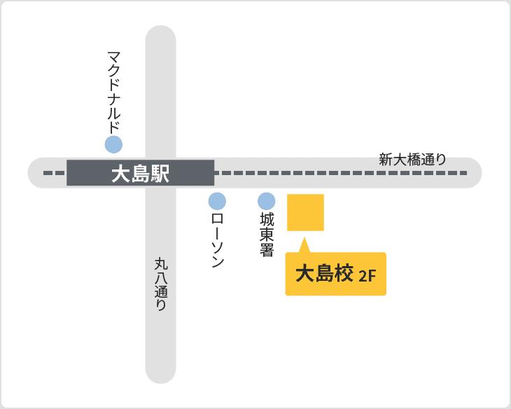 森塾 大島校の地図