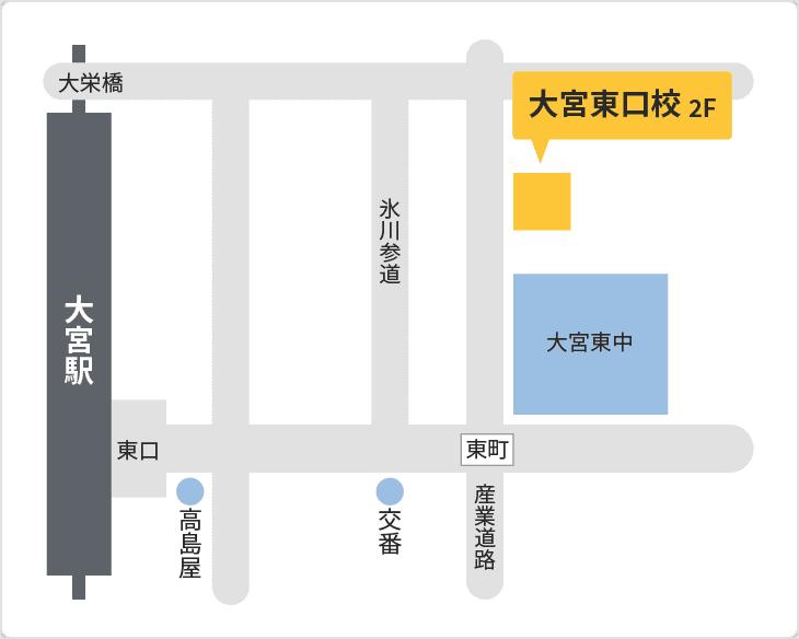 森塾 大宮東口校の地図