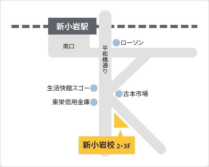 森塾 新小岩校の地図