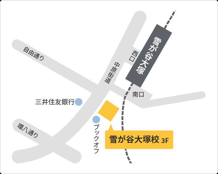 森塾 雪が谷大塚校の地図